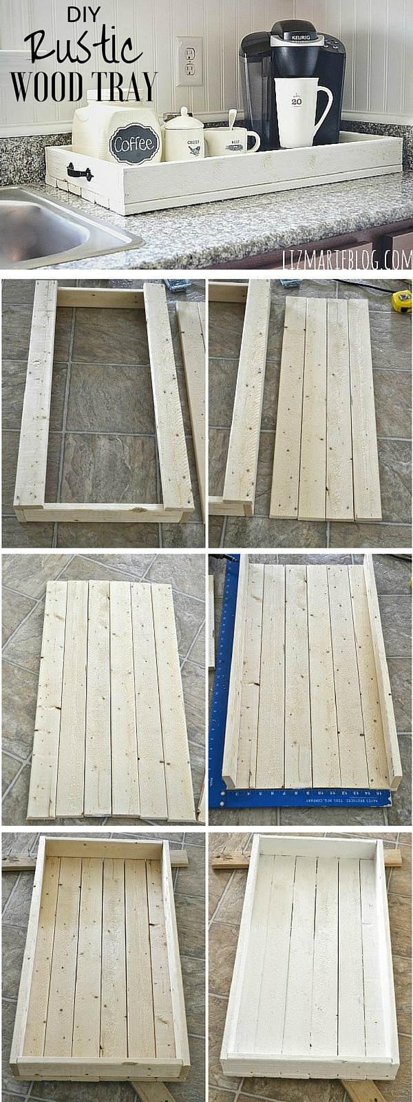 Check out the tutorial: #DIY Rustic Wood Tray