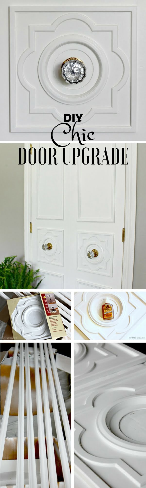 Check out the tutorial: #DIY Chic Door Upgrade