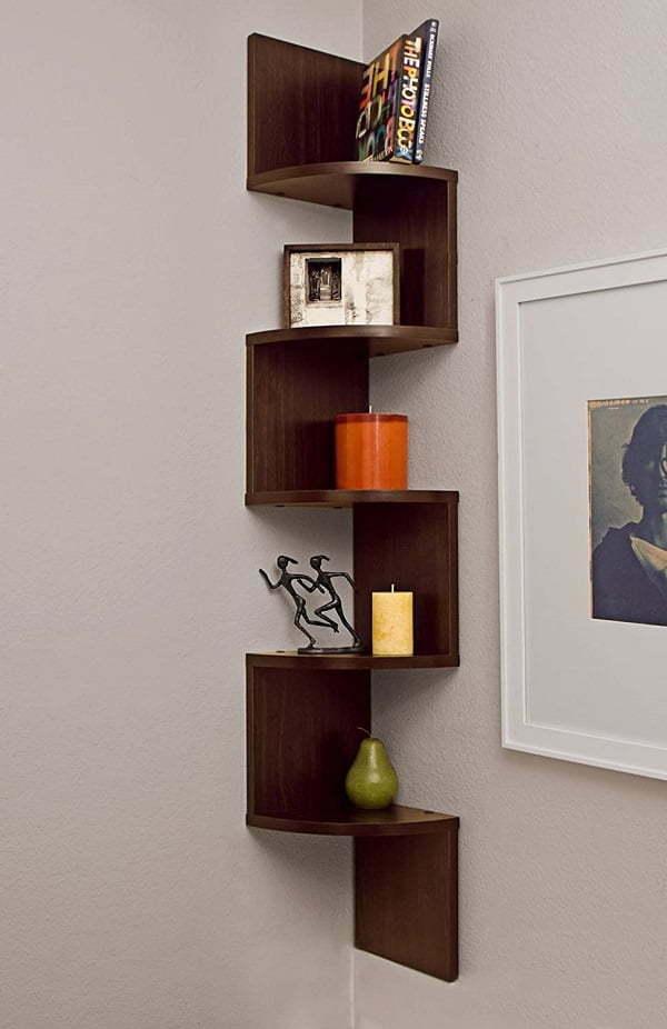 corner wall-mount shelf