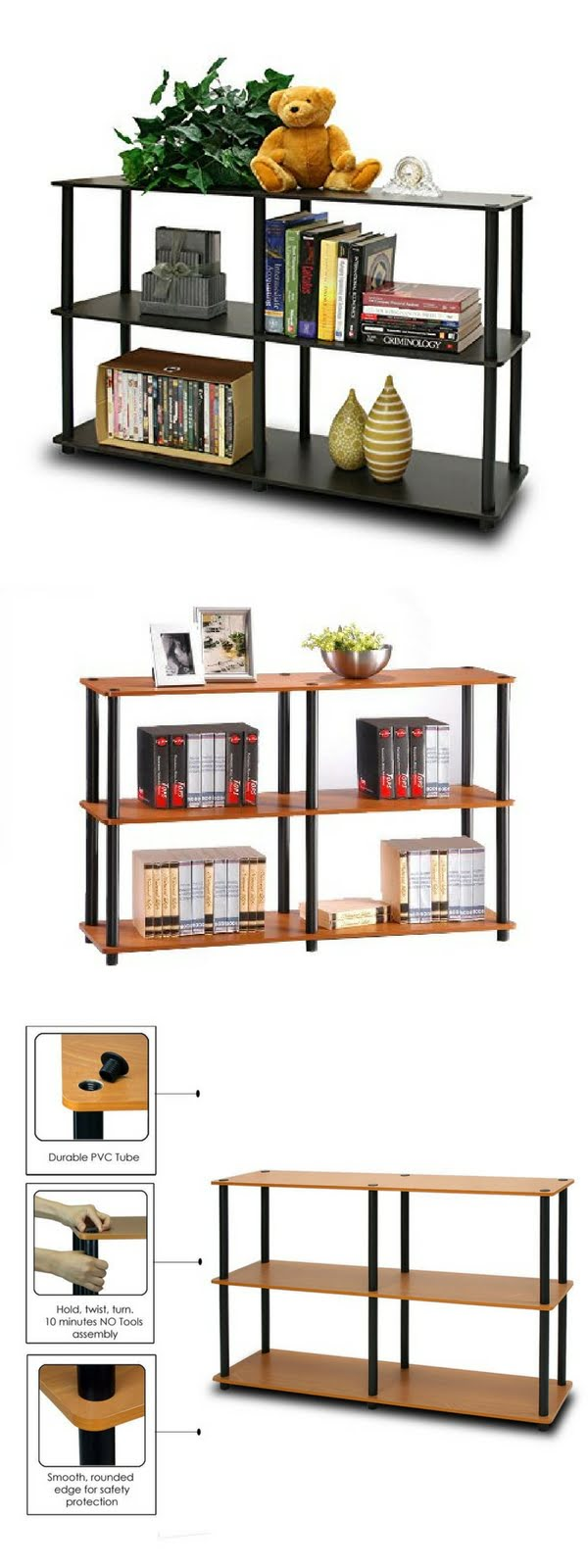 Check out the Furinno Turn-N-Tube Bookcase