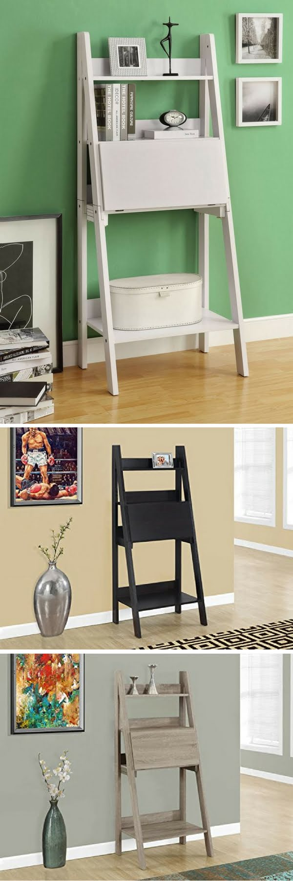 Check out the Ladder Style Bookcase Multi-functional Bookcase/Desk