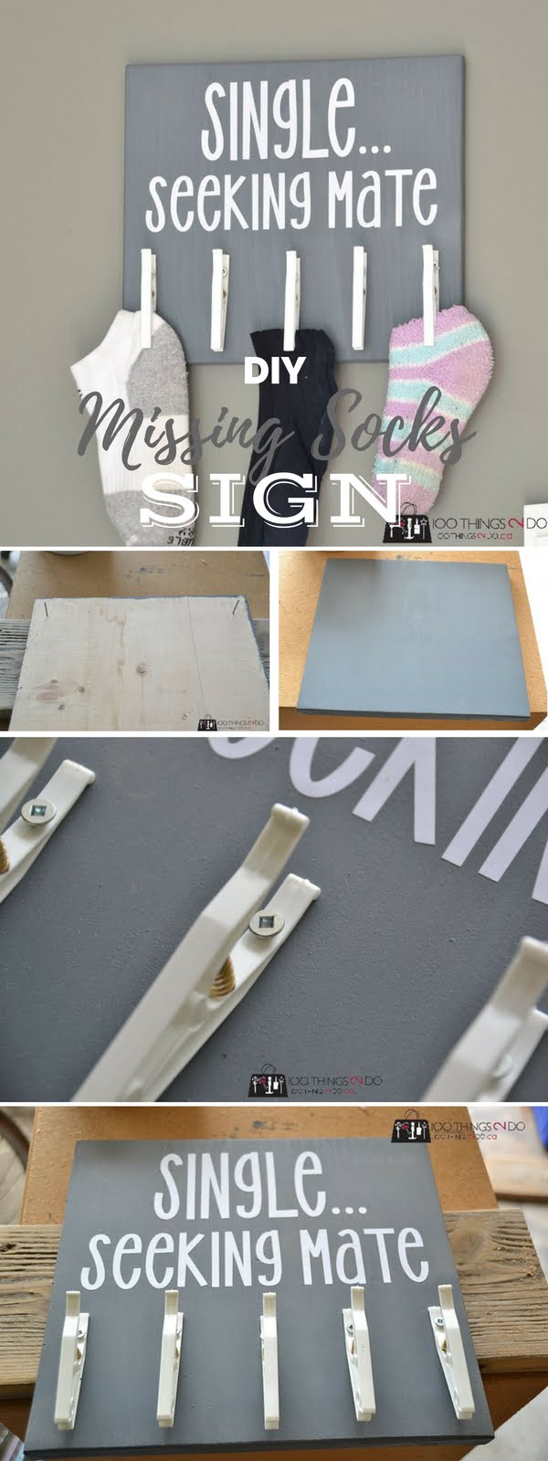 Check out the tutorial: #DIY Missing Socks Sign