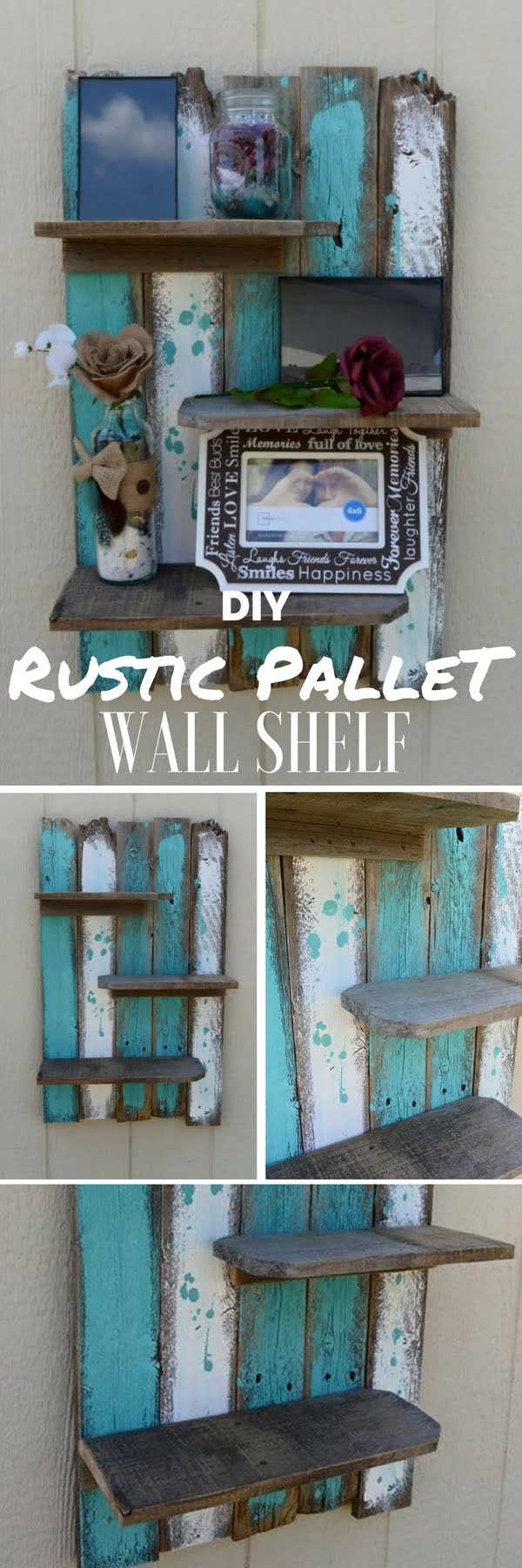 Check out the tutorial: #DIY Rustic Pallet Wall Shelf