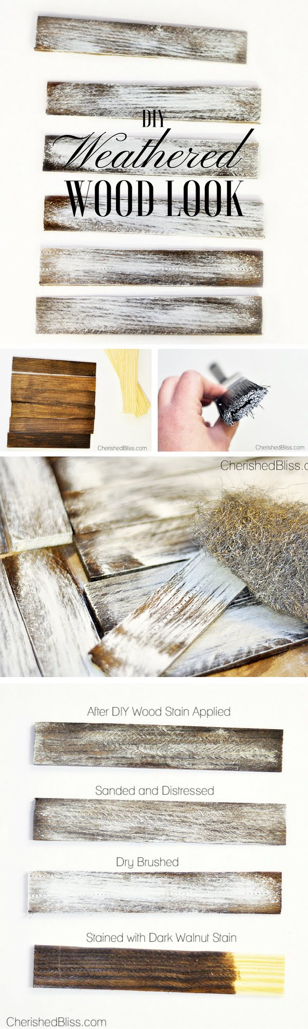 Check out the tutorial: #DIY Weathered Wood Look