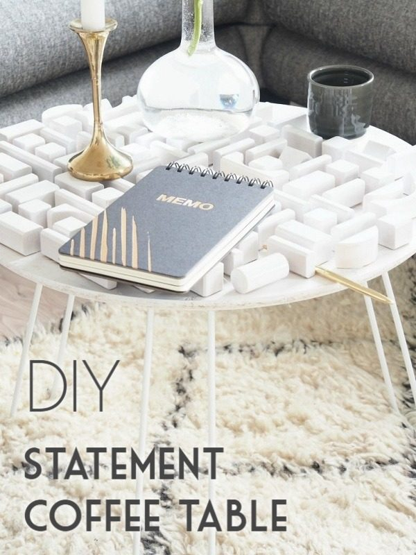 Check out the tutorial on how to make a #DIY statement coffee table. Looks easy enough! #HomeDecorIdeas