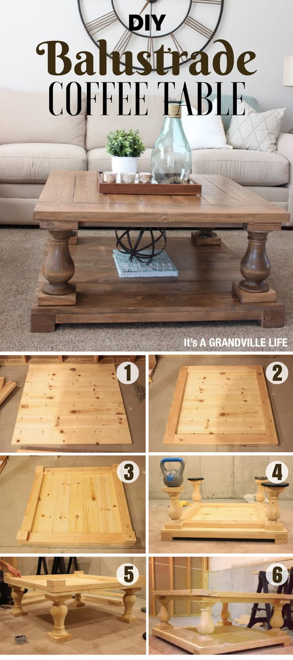 Check out how to easily build this DIY Balustrade Coffee Table