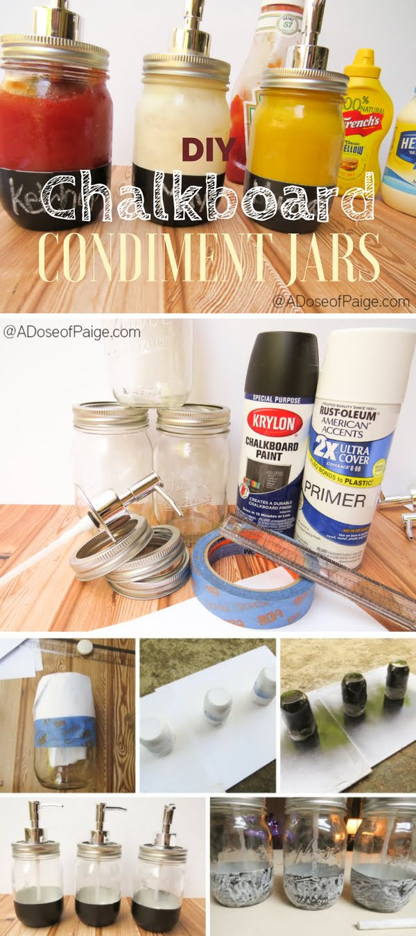 DIY Condiment Jars