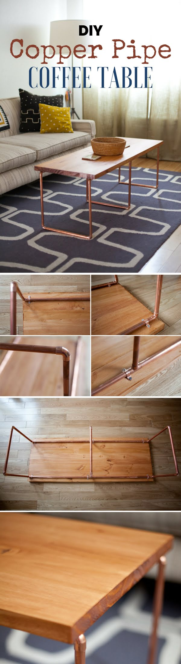 Check Out How To Build This Easy DIY Copper Pipe Coffee Table