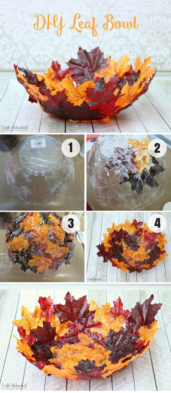 Easy to make DIY Leaf Bowl