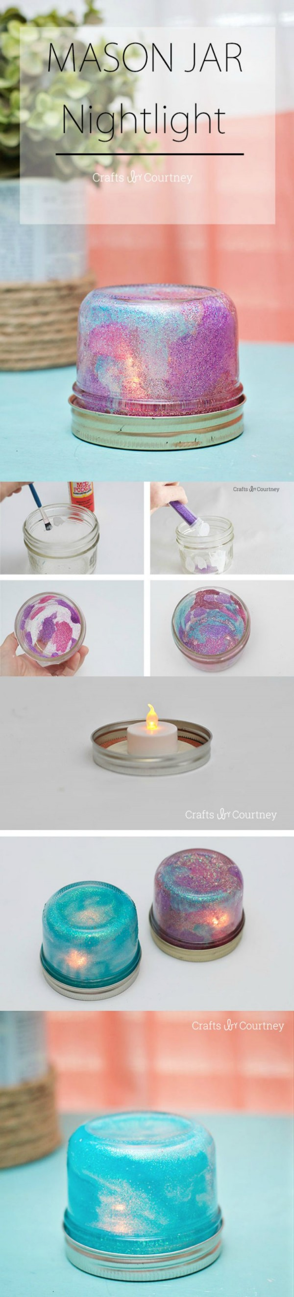 How to make  Mason Jar Nightlight