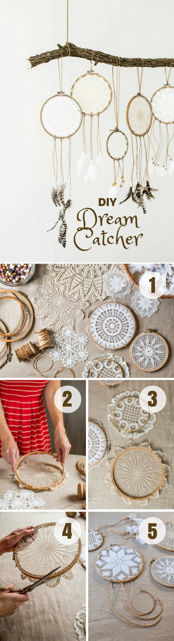Check out how to easily make this DIY Dream Catcher @istandarddesign