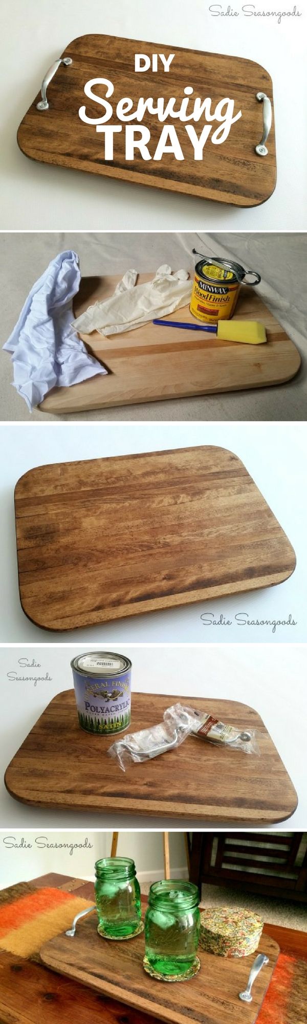 Check out the tutorial: #DIY Farmhouse Serving Tray