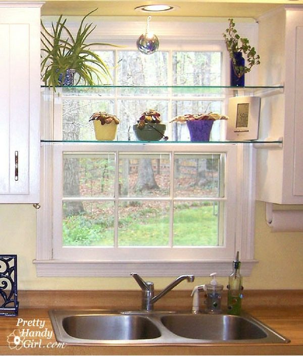 Check out the tutorial:  Glass Window Shelves @industrystandarddesign