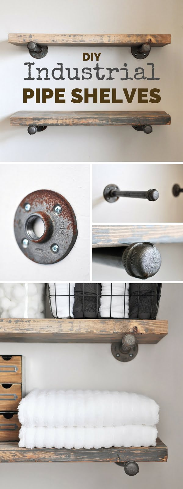 Check out the tutorial:  Industrial Pipe Shelves