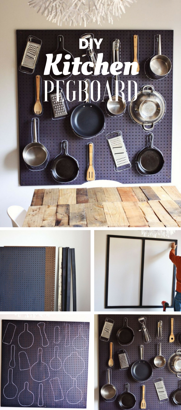 Check out the tutorial: #DIY Kitchen Pegboard