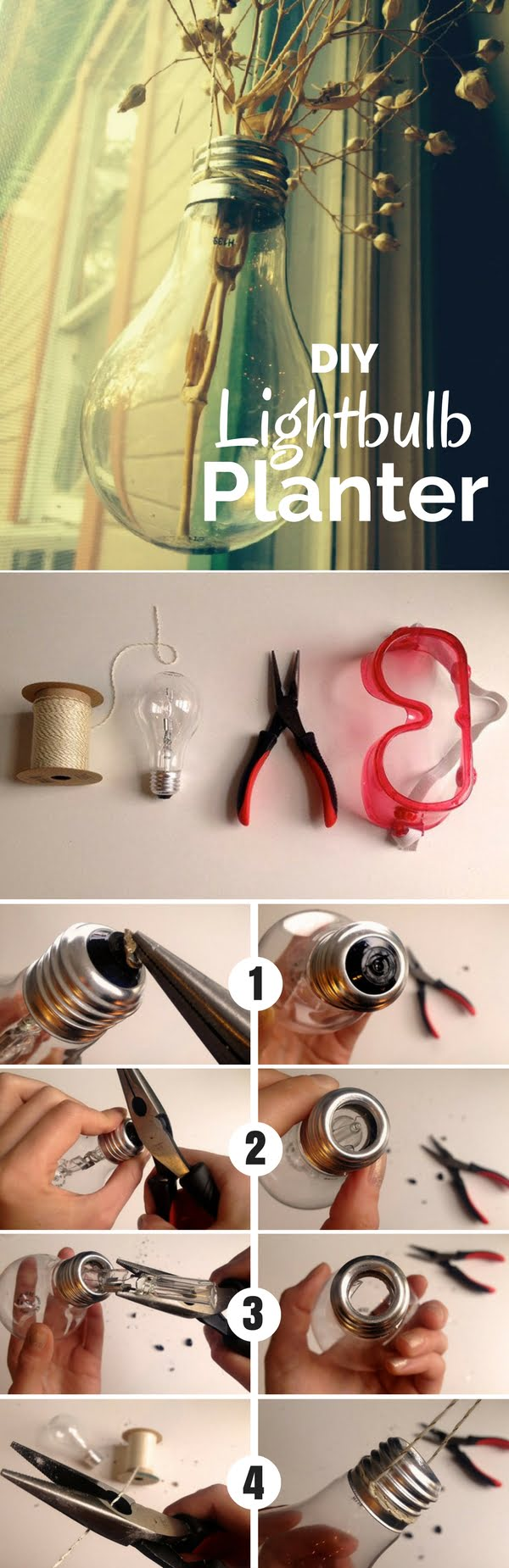 Check out this easy idea on how to make #DIY lightbulb planters for #apartments #homedecor #budget #dollarstore