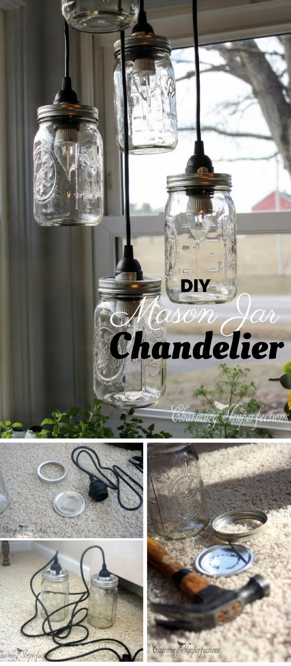 How to make  Mason Jar Chandelier