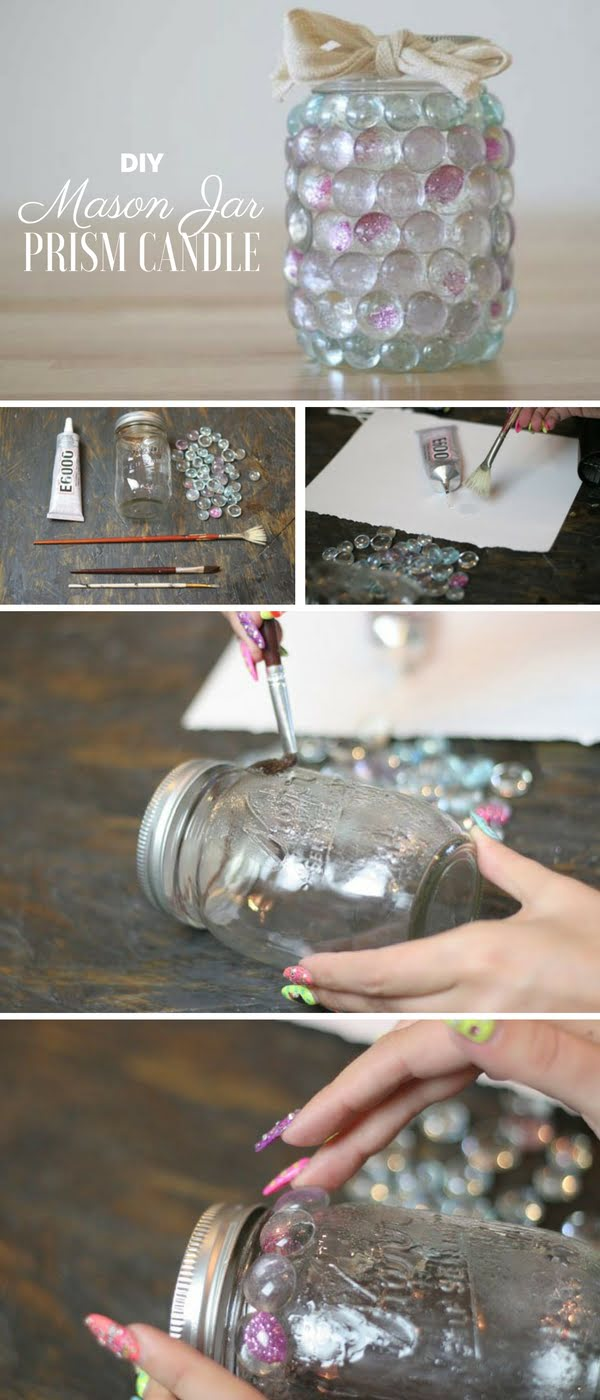 How to make  Mason Jar Prism Light