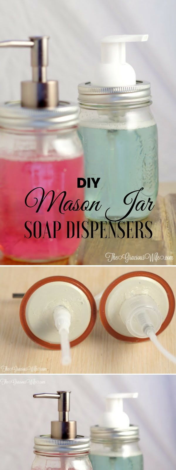 How to make  Mason Jar Soap Dispensers