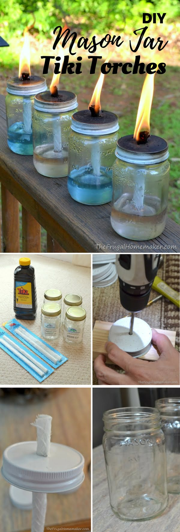 How to make  Mason Jar Tiki Torches