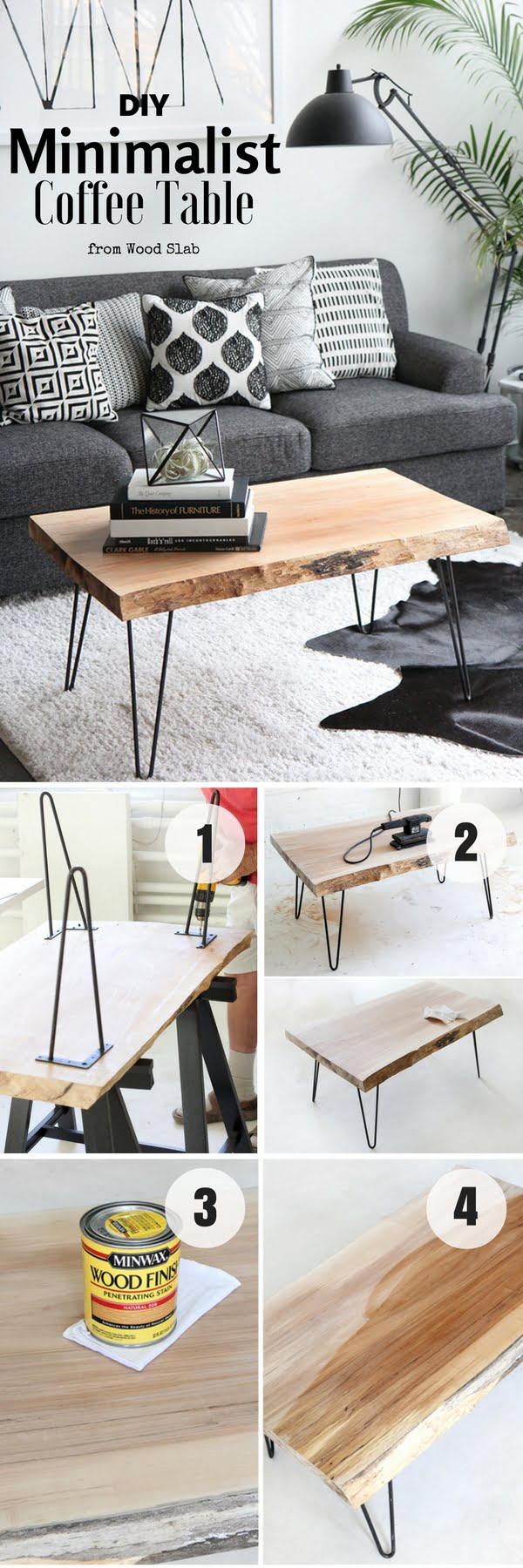Check out how to build this easy DIY Minimalist Coffee Table