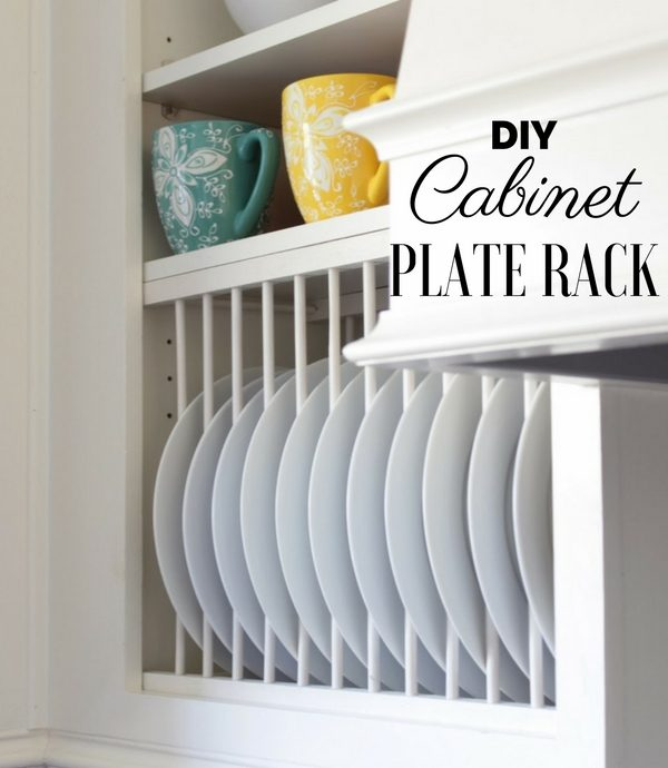 How to make  Cabinet Plate Rack