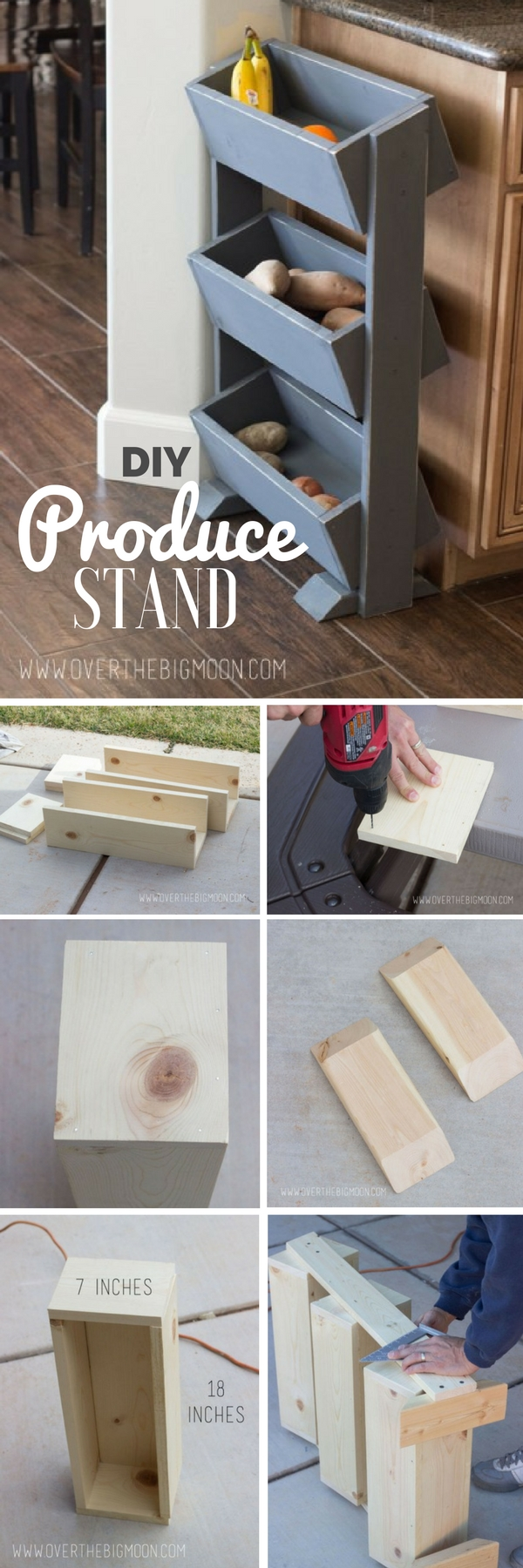 Check out the tutorial: #DIY Produce Stand