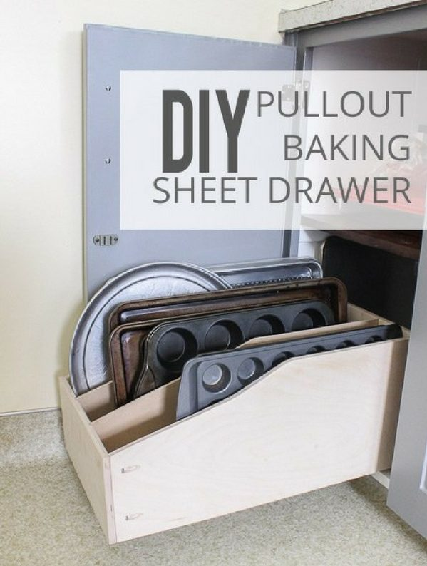 How to make  Pullout Baking Sheet Drawer