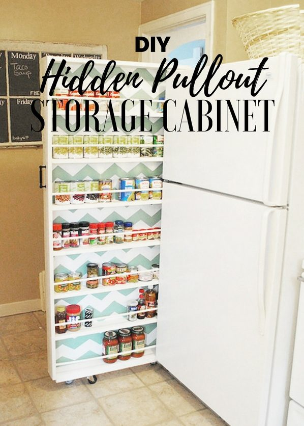 How to make  Hidden Pullout Storage Cabinet