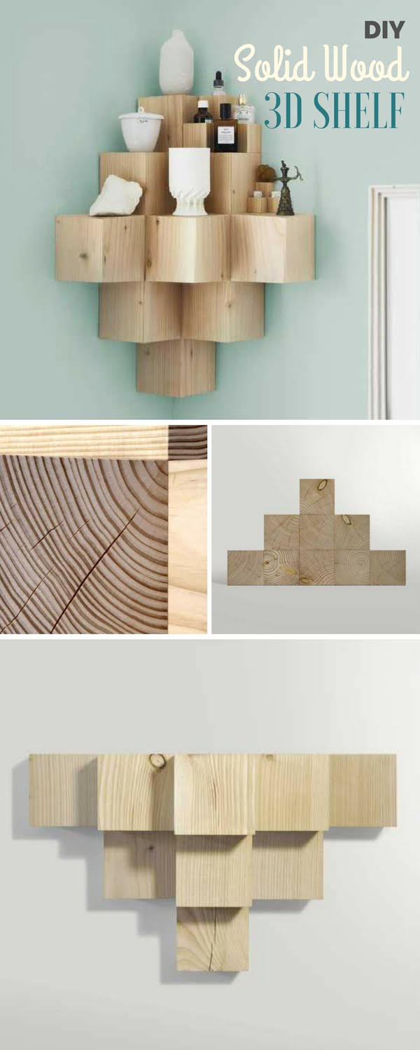 Check out the tutorial:  Solid Wood 3D Shelf