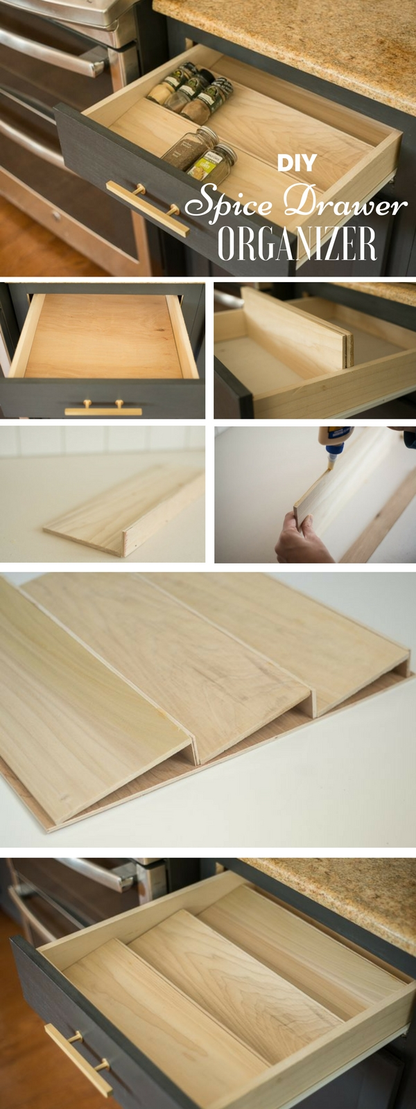 Check out the tutorial: #DIY Spice Drawer Organizer