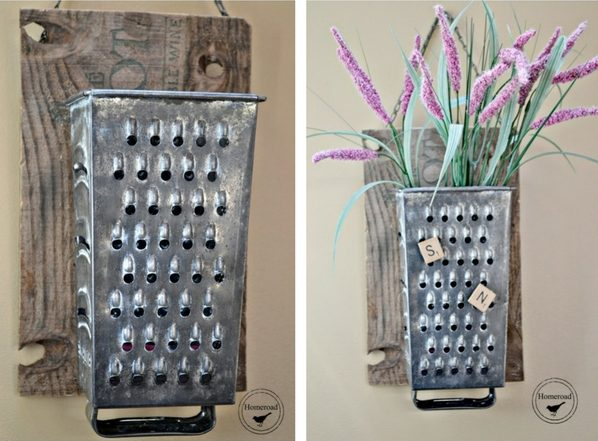 How to make  Vintage Cheese Grater Organizer