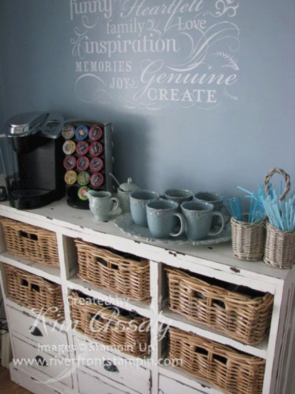 15 Simple DIY Ideas to Make the Best Coffee Station at Home - Love the idea for a DIY vintage rustic coffee station