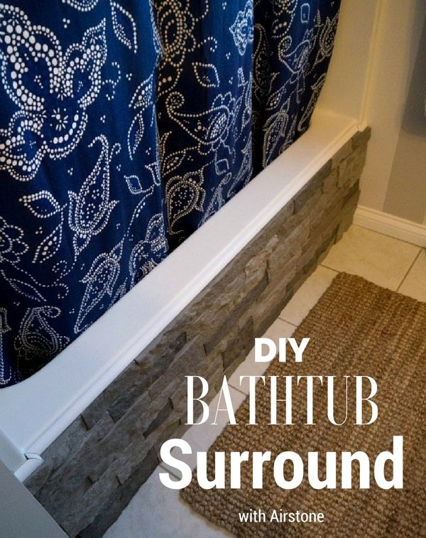 Bathrub Surround with Airstone for rustic bathroom decor