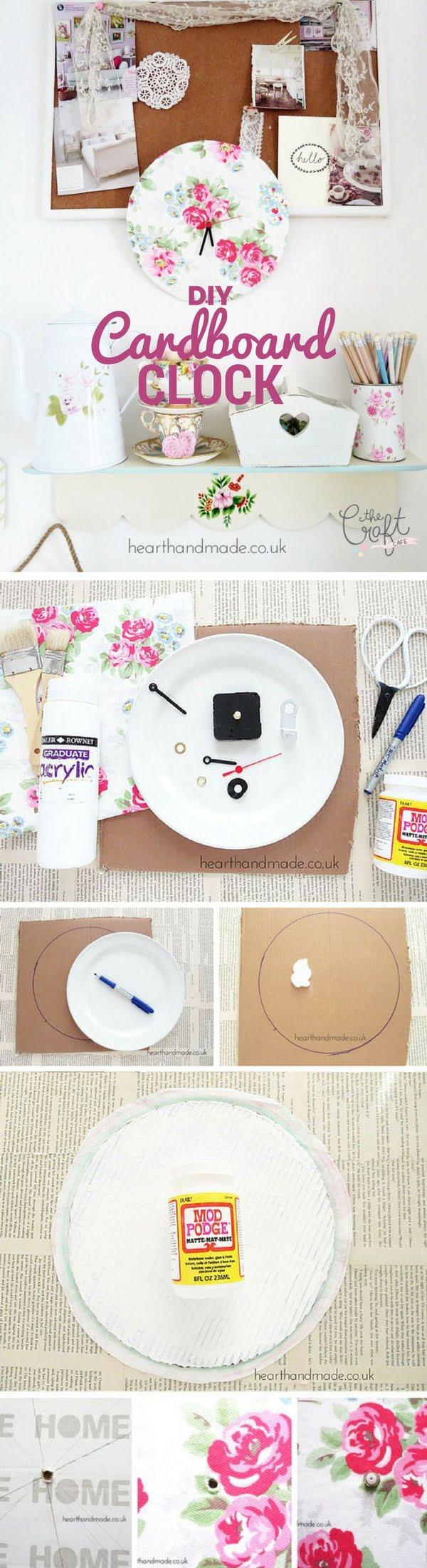 Check out how to make an easy DIY Shabby Chic Cardboard Clock