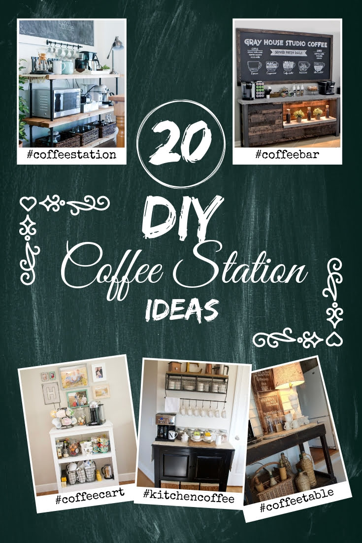 Everyone needs a coffee station at home. And here's how you can build one in one of these 15 easy DIY ways. Great list! #homedecor #DIY