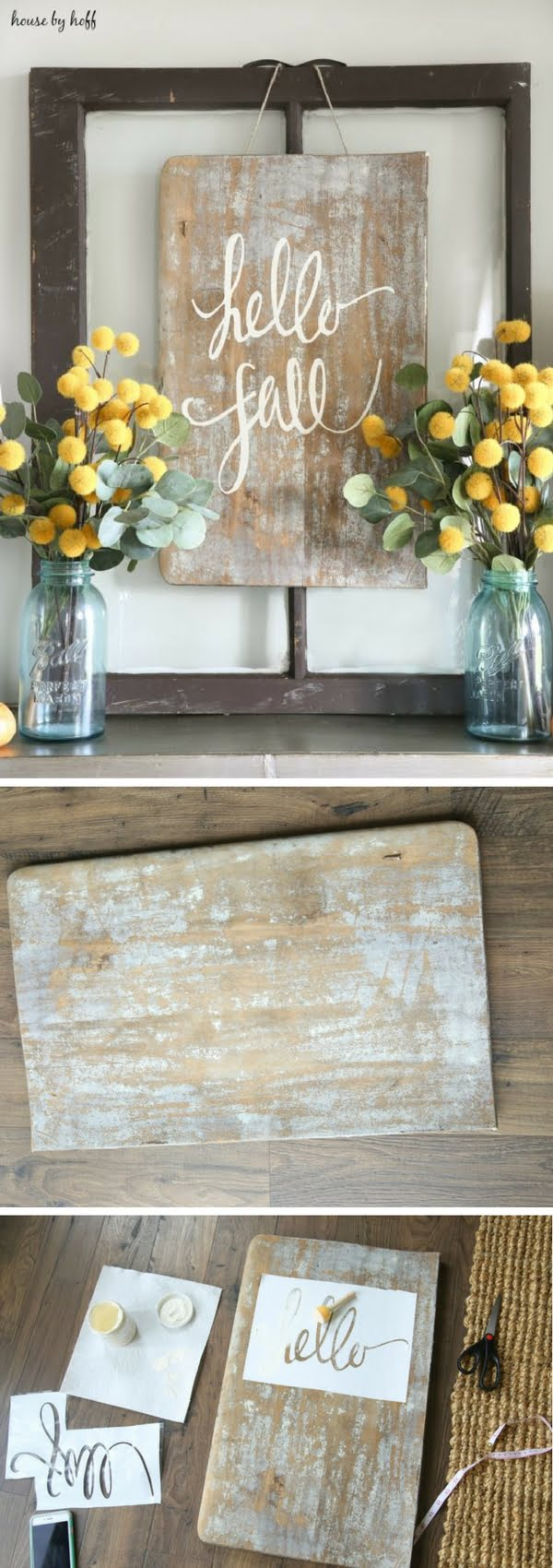Check out how to make an easy DIY Fall Sign for farmhouse style