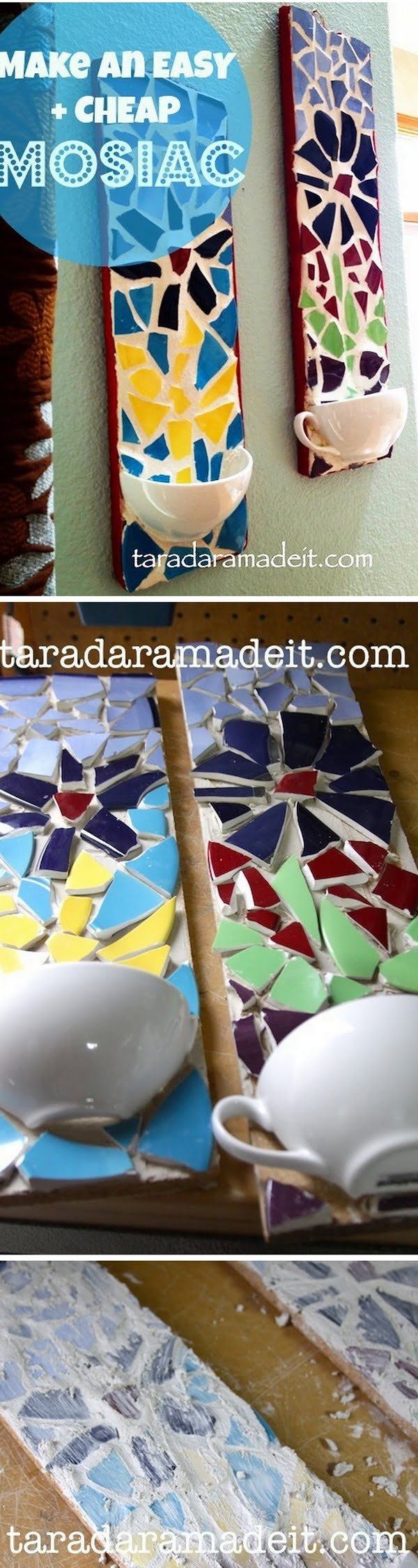 30 Stunning DIY Mosaic Craft Projects for Easy Home Decor - Check out this easy idea on how to make a #DIY mosaic wall decor #homedecor on a #budget #crafts #project