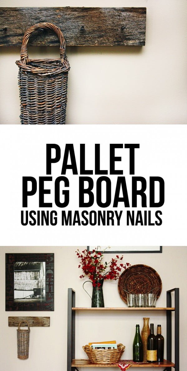Make an easy DIY pallet peg board for rustic home decor