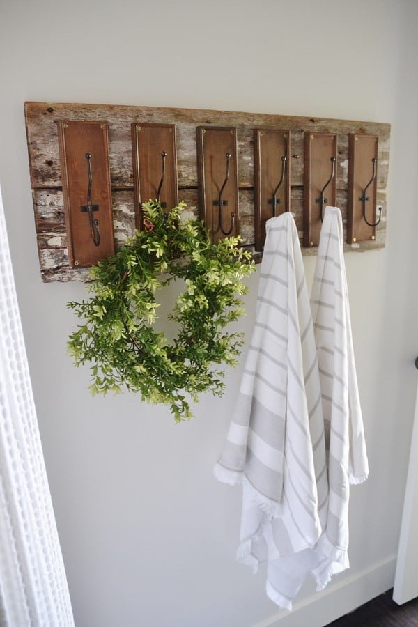 Towel Hooks for rustic bathroom decor
