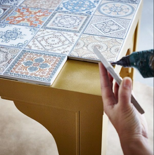 Check out this easy idea on how to make a  mosaic tile tabletop for living room  on a   s @istandarddesign
