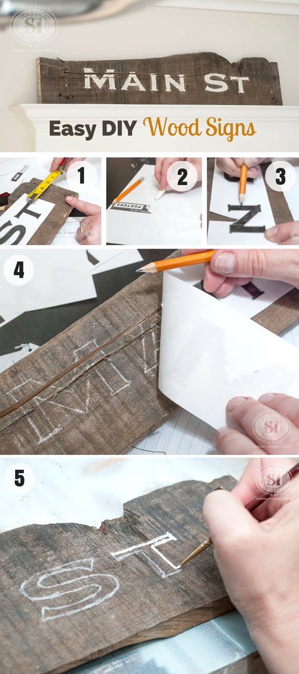 Check out how to make Easy DIY Wood Signs