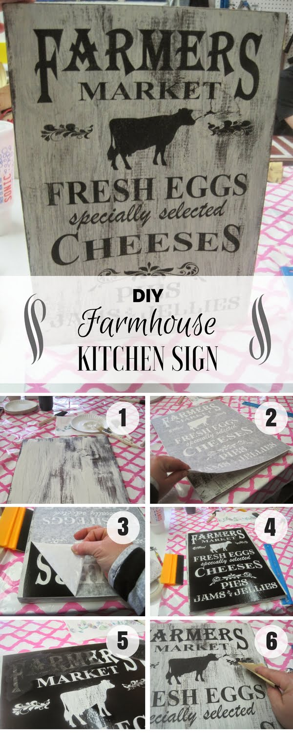 17 Fab DIY Farmhouse Signs You Can Make Yourself - Check out how to make an easy DIY Farmhouse Kitchen Sign