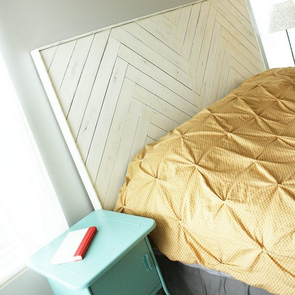 Herringbone pattern DIY Headboards