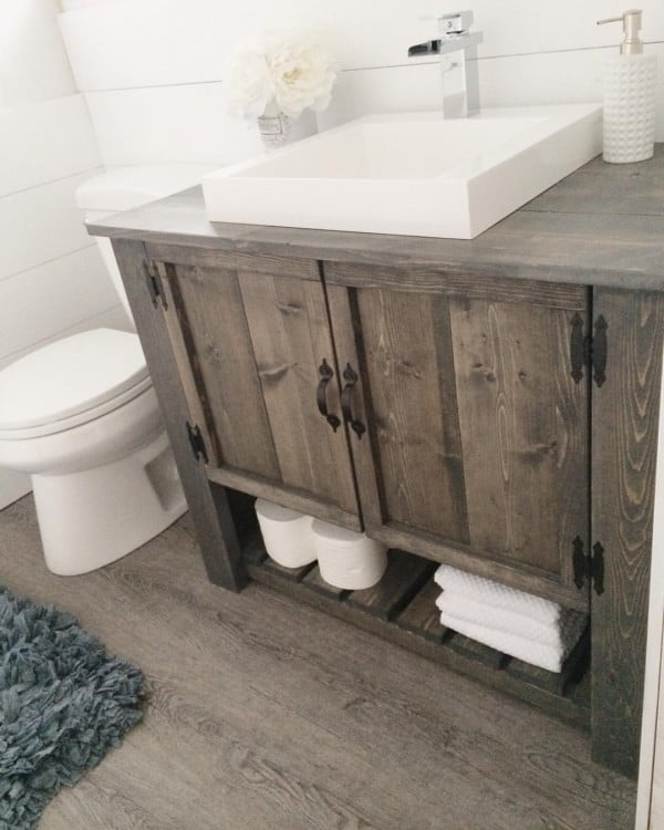 #DIY rustic bathroom vanity cabinet #bathroomdecor
