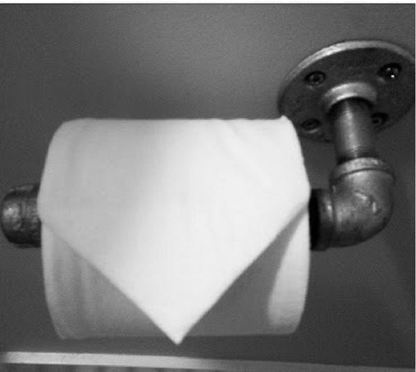 How to make a quick and easy  industrial toilet paper holder