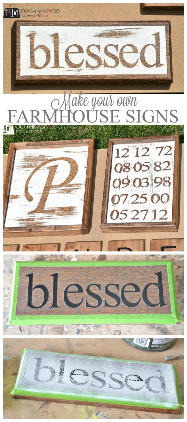 Check out how to make your own easy DIY farmhouse signs