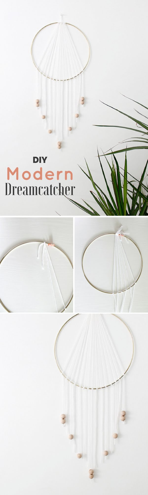 16 Beautiful DIY Bedroom Decor Ideas That Will Inspire You - Check out how to make a very easy DIY Modern Dreamcatcher for bedroom decor