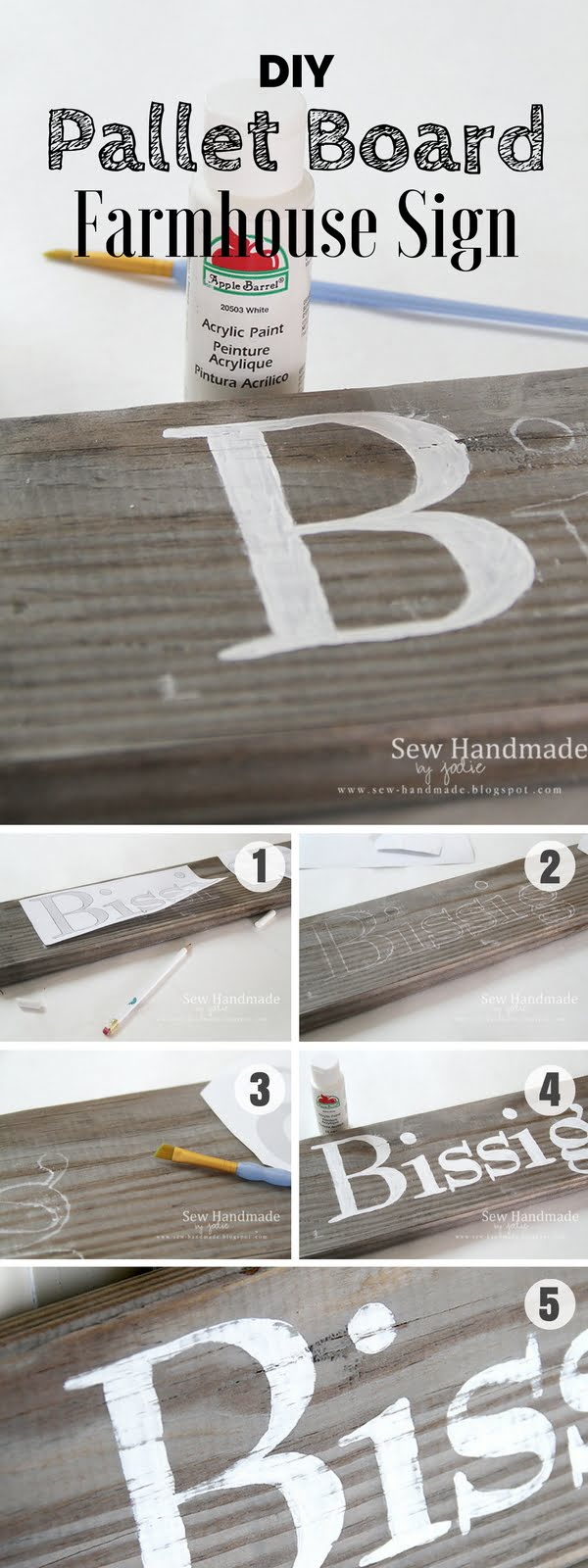 Check out how to make an easy DIY Pallet Board Sign for farmhouse decor