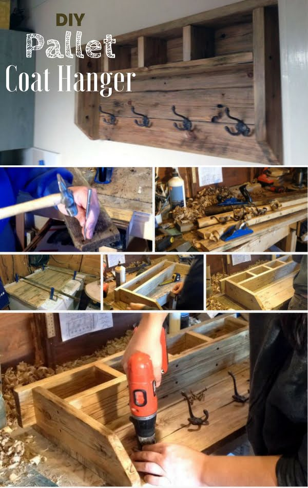 How to build an easy DIY coat hanger from pallet wood